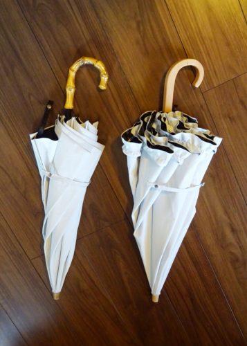 サンバリア100新旧2本の日傘
